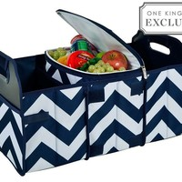 Trunk Organizer and Cooler Set, Chevron