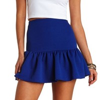Geo-Quilted Fluted Skater Skirt