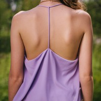 To a T Lavender Tank Top - Lotus Boutique