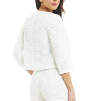 Cream Crochet Jacket