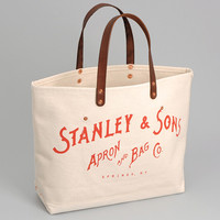 stanley sons - standard logo tote natural red logo