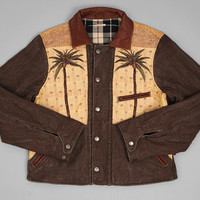 kapital - gobelin tapestry sports jacket palm tree motif
