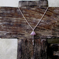 Quartz Crystal and Amethyst Sterling Silver Necklace ▲DON ⊕ BIU▲