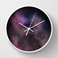 Wall Clock Galaxy Nebula Space Stars Purple Pink Hipster Science Home Decor Wall Decor Made To Order Clock Custom Clock