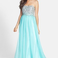 Sean Collection Embellished Bodice Chiffon Gown | Nordstrom