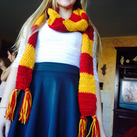 Harry Potter Scarf Crochet Extra Long Handmade