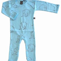 Idat one-piece, ice-blue with polar bears - one-pieces