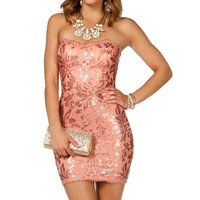 Libby- Peach Short Prom Dress