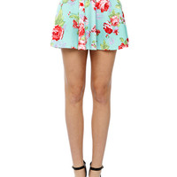 Papaya Clothing Online :: FLORAL PIRNT FALRE SKATER SKIRTS