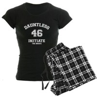 CafePress Divergent - Dauntless Initiate 46 Pajamas Women's Dark Pajamas
