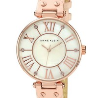 Anne Klein Round Roman Numeral Watch, 34mm | Nordstrom