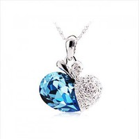 Blue Heart Type Necklack-Fashion Jewelry