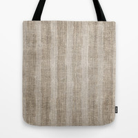 Striped burlap (Hessian series 3 of 3) Tote Bag by John Medbury (LAZY J Studios) | Society6