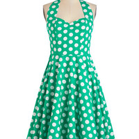 Like, Oh My Dot! Dress in Emerald | Mod Retro Vintage Dresses | ModCloth.com