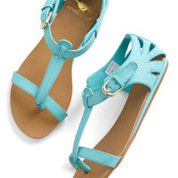 Walk on Sunshine Sandal in Turquoise | Mod Retro Vintage Sandals | ModCloth.com