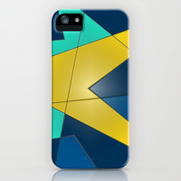 Yellow and Blue iPhone & iPod Case by DuckyB (Brandi)