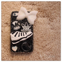 B&W Theme iPhone 4/4s Blinged Out Case W/Mirror