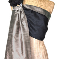 Essential Silk Baby Sling :: Midnight~Sandstone - Sakura Bloom