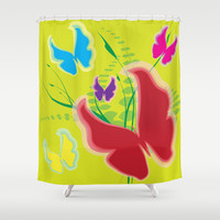 Butterfly 10 Shower Curtain by Ramon Martinez Jr