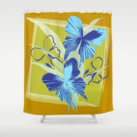 Butterfly 09 Shower Curtain by Ramon Martinez Jr
