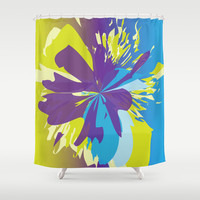 Abstract 134 Shower Curtain by Ramon Martinez Jr