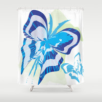 Butterfly 04 Shower Curtain by Ramon Martinez Jr