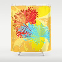 Abstract 139 Shower Curtain by Ramon Martinez Jr