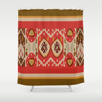 Katchina iKat Shower Curtain by Ramon Martinez Jr
