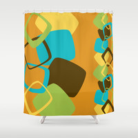 Retro Pattern 15 Shower Curtain by Ramon Martinez Jr