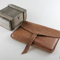 Brown Macbook case / Document case / Clutch