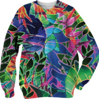 Sweatshirt Floral Abstract Artwork G9