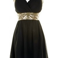 Cross Back Sequin Dress - Kely Clothing