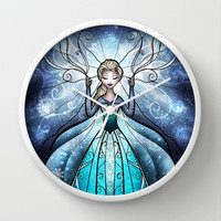 The Snow Queen Wall Clock by Mandie Manzano | Society6