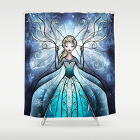 The Snow Queen Shower Curtain by Mandie Manzano | Society6