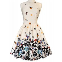 White Butterfly Tea Dress