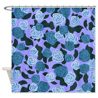Purple Shower Curtain - Roses - Ornaart Design