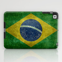 Vintage Brazilian National flag featuring a football ( soccer ball ) iPad Case by LonestarDesigns2020 - Flags Designs +