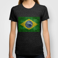 Vintage Brazilian National flag featuring a football ( soccer ball ) T-shirt by LonestarDesigns2020 - Flags Designs + | Society6