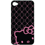 HELLO KITTY iPhone 4 Black/Pink Case