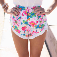 INSTANT CRUSH SHORTS , DRESSES, TOPS, BOTTOMS, JACKETS & JUMPERS, ACCESSORIES, 50% OFF SALE, PRE ORDER, NEW ARRIVALS, PLAYSUIT, COLOUR, GIFT VOUCHER,,SHORTS,Pink,White,Print,MINI Australia, Queensland, Brisbane