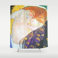 Love & Transcendence - Gustav Klimt Shower Curtain by BeautifulHomes