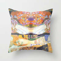 Love & Water Snakes Throw Pillow by BeautifulHomes