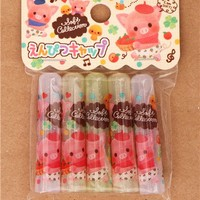 cute strawberry pig pencil caps Japan kawaii - Pens-Pencils - Stationery