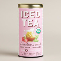 The Republic of Tea Strawberry Basil Iced Tea Pouch, 8-Count
