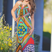 Colors Of Monaco Halter Maxi