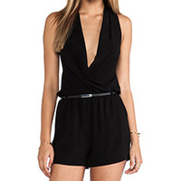 Robert Rodriguez Belted Crepe Cutout Jumper in Black from REVOLVEclothing.com