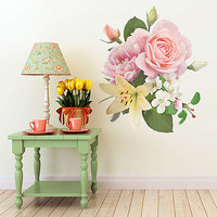 Vintage Inspired Floral Wall Sticker