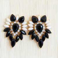 Black Pansy Earrings