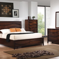 Loncar 5 PC Bedroom Set (Bed, Nightstand, Dresser, Mirror and Chest) | Bedroom sets COA-203101-SET5/6
