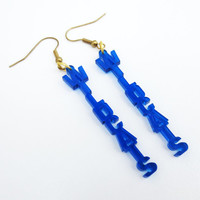 Blue Arizona Kentucky Wildcats Laser Cut Earrings Free Shipping